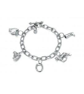 bracelet en argent sterling et charms