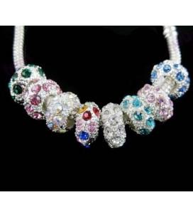 perle en strass cristal