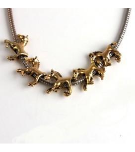 perle cheval doré à enfiler